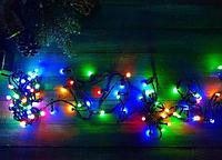 Гирлянда кристал 1,8 40LED 5м (флеш) ЧП RGB, Новогодняя бахрама, Светодиодная гирлянда, Уличная гирлянда, фото 1
