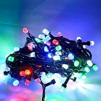 Гирлянда кристал двухцветная лампа 100LED 9м Микс, Новогодняя бахрама, Светодиодная гирлянда, Уличная гирлянда, фото 1