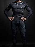Компрессионная одежда 2в1 черная пантера М, ХХЛ, фото 2