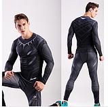 Компрессионная одежда 2в1 черная пантера М,ХХЛ, фото 2