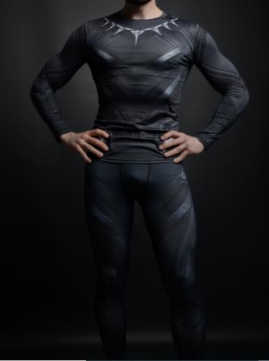 Компрессионная одежда 2в1 черная пантера М,ХХЛ