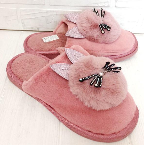 Комнатные женские тапочки-зайчики PR 129 Pink