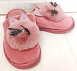 Комнатные женские тапочки-зайчики PR 129 Pink, фото 2