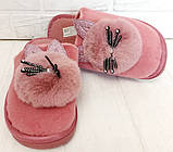 Комнатные женские тапочки-зайчики PR 129 Pink, фото 3