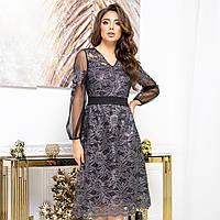 """Гіпюрову вечірнє плаття коктейльне """"SHERIDAN"""", фото 1"""