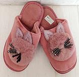 Комнатные женские тапочки-зайчики PR 129 Pink, фото 6