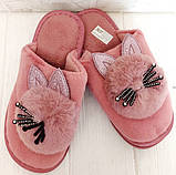 Комнатные женские тапочки-зайчики PR 129 Pink, фото 7