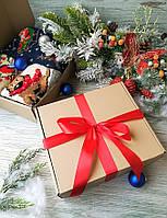 Подарочный набор из двух новогодних носков и гольфов вязаных шерстяных (можно составить самому)