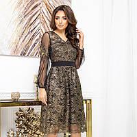"""Сукня гіпюрову золотисте вечірнє """"SHERIDAN"""", фото 1"""