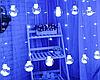 Гірлянда штора лампи Едісона 200LED 10 кульок 8 см ширина 3м Біла   Ретро гірлянда RD-9016