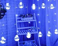 Гірлянда штора лампи Едісона 200LED 10 кульок 8 см ширина 3м Біла   Ретро гірлянда RD-9016, фото 1