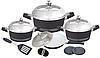 Набор посуды Barton Steel ВS 6813 12 предметов кастрюли сковорода с крышками