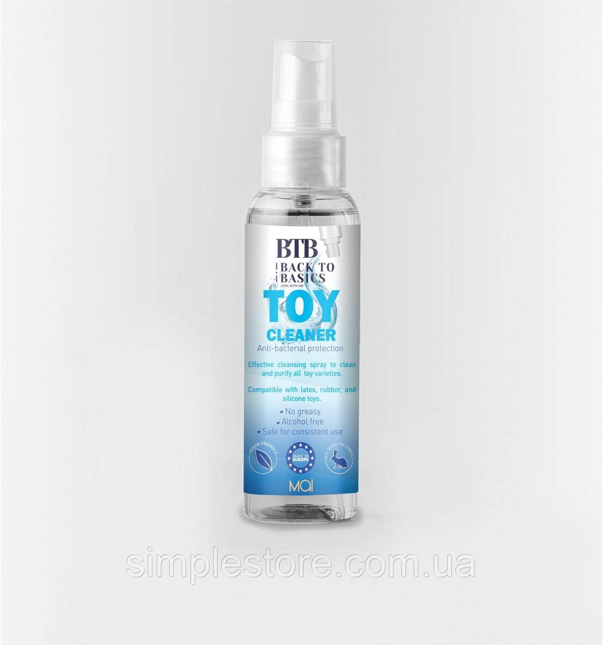 Антибактериальное чистящее средство для интимных игрушек BTB TOY CLEANER 75 мл