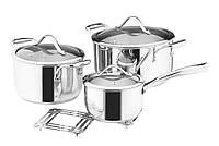 Набор посуды Vinzer Chef 89028 (7 пр.) нержавеющая сталь   кастрюля, кастрюли, сотейник, посуда Винзер, фото 1