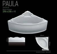"""Ванна акриловая угловая SWAN """"Paula"""" 170х170х44 см.в комплекте с панелью и ножками"""