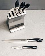 Набор ножей Vinzer Tsunami 89125 из нержавеющей стали на подставке (6 пр.) | кухонный нож Винзер | ножи, фото 1