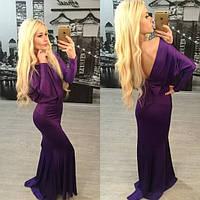 Свободное вечернее платье с открытой спиной в расцветках n-3103764