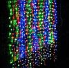 Гірлянда водоспад різнобарвна 320-400LED 3х3м з заглуш. 10х32Ламп RD-7149 | Новорічна LED гірлянда штора