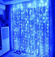 Гірлянда штора 144LED 2х2м RD-089 Синій   Новорічна світлодіодна вулична гірлянда, фото 1