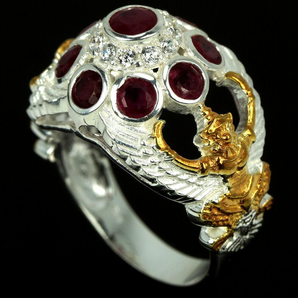 Серебряное кольцо с рубином, 2577КЦР
