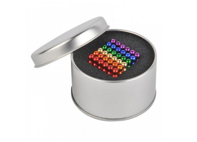 Игрушка-конструктор головоломка Неокуб Neocube 216 магнитных (Цветной)