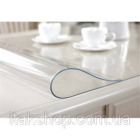 Скатерть мягкое стекло для стола и мебели Soft Glass (3.1х1.4м) толщина 0.4 мм Прозрачная
