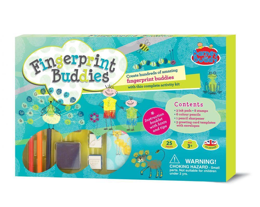 Набір для творчості  пальчикові фарби + штампики  Barney & Buddy