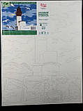 """Набор-стандарт, картина по номерам, """"Маяк и чайки, 35х45см, ROSA START, фото 4"""