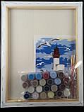 """Набор-стандарт, картина по номерам, """"Маяк и чайки, 35х45см, ROSA START, фото 5"""