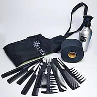 Набір аксесуарів перукаря для стрижки і укладки волосся