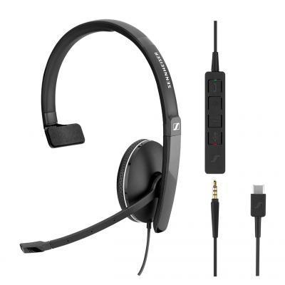 Навушники Sennheiser SC 135 USB-C / 3.5 mm Mono (508355)