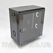 Шкаф 12U, 600х350х640 мм (Ш * Г * В), акриловое стекло, чёрный