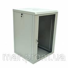 Шкаф 18U, 600x600x907мм (Ш * Г * В), эконом, акриловое стекло, серый