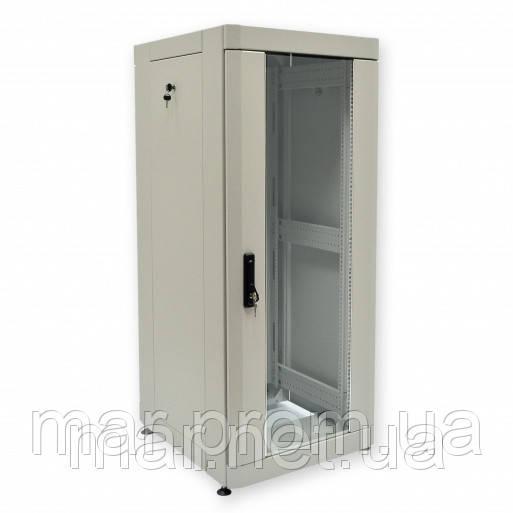 "Шкаф 19 ""28U, 610 х 675 мм (Ш * Г), серый"