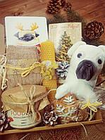 Набор подарочный, новогодний, игрушка собака мопс, свеча, свечи набор, Натуральный, подарок