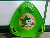 Санки Тарелка треугольные зеленые