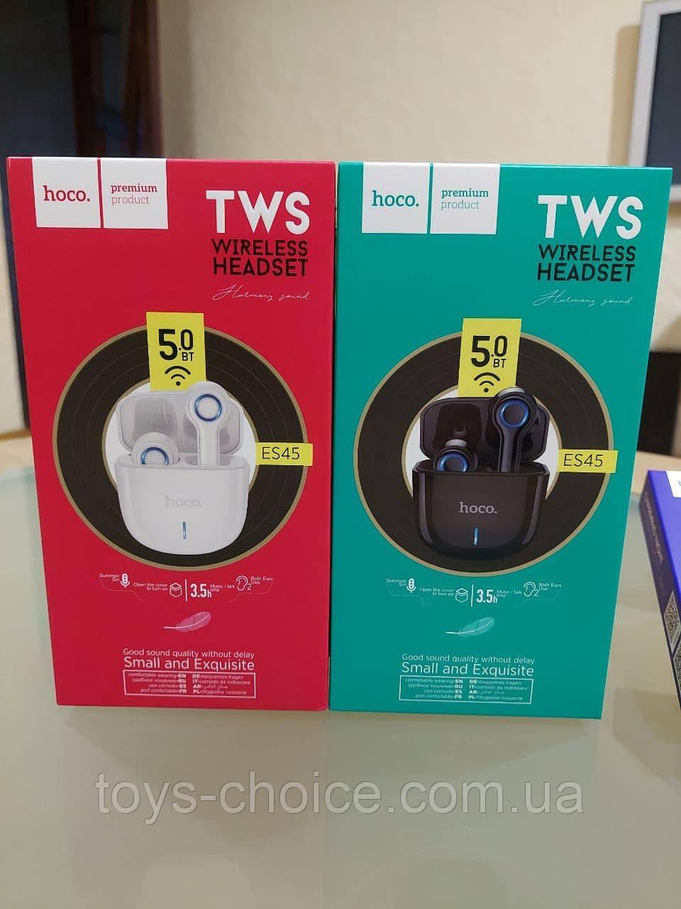 Беспроводные Bluetooth наушники Hoco ES45 Harmony sound TWS Black/White