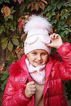 Комплект шапка + шарф для девочки NIKOLA Польша 20z44k