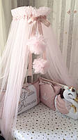 Комплект бортиков в кроватку с простынкой / комплект бортиків з простинкою в дитяче ліжечко