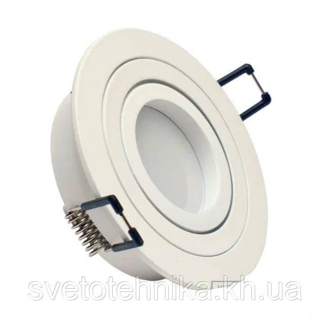 Алюминиевый светильник HI-TECH DDL17430 FERON DL6110) MATT WHITE (поворотный встраиваемый) круг белый моточный