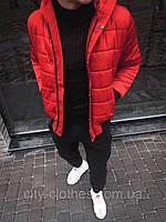 Мужская куртка на холодную зиму (красная) kk4