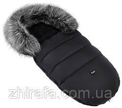 Зимовий хутряний конверт в коляску / санки Bair Polar Plus чорний