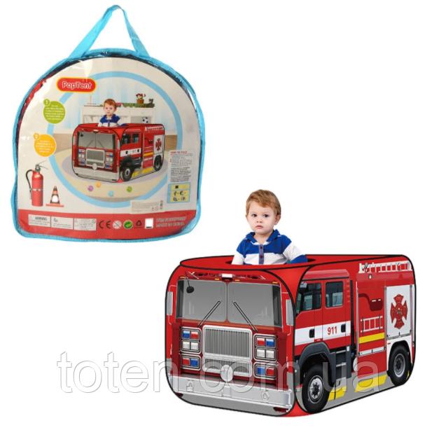 """Детская палатка мальчику MR 0025 """"Пожарная машина""""  112х71х71 см"""