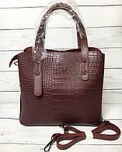 Женская сумка B.Elit (Би Элит), бордовая ( код: IBG220KR )