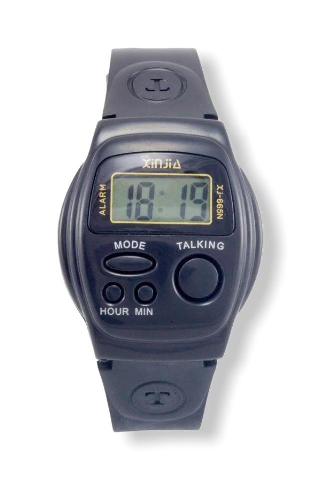 Спортивные говорящие часы XiNjiA, черный, Синьцзя