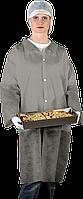 Защитный халат из полиэтилена на кнопках Reis (FLAB) серый