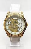 Механические наручные часы Слава, золото с белым ремешком ( код: IBW474YO ), фото 2