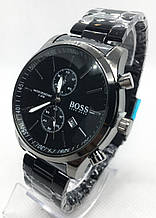 Мужские наручные часы BOSS (Босс), черные ( код: IBW545B )