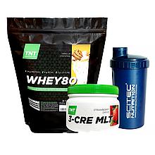 Muskle Up Комплект Протеин Poland 2 кг Ваниль + Креатин + Шейкер  в Подарок