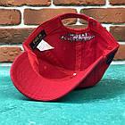 Кепка Бейсболка Мужская Женская Polo Ralph Lauren 3 с тканевым ремешком Красная с большим Синим лого, фото 3